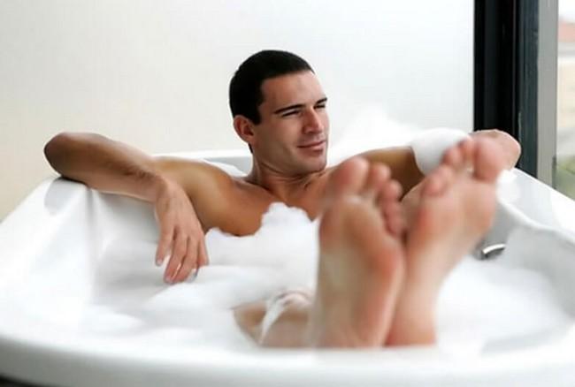 入浴による血行促進