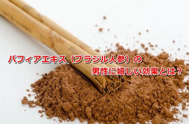 パフィアエキス(ブラジル人参)の男性に嬉しい効果とは?